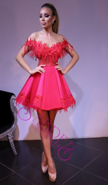 ROCHIE BABY DOLL DIN BRODERIE SI FRANJURI